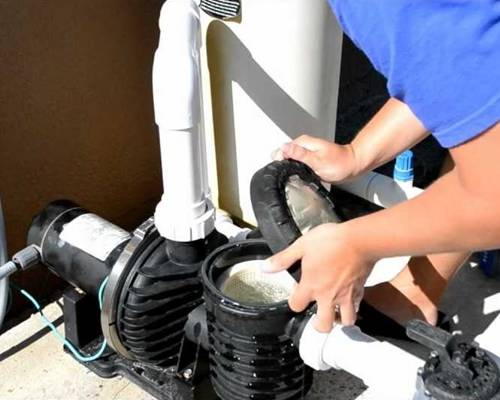 Swimming Pool Maintenance Service Cleaning Pump